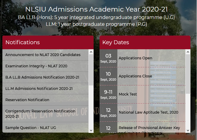 What is NLAT 2020? How do I Apply for NLSIU Bangalore?