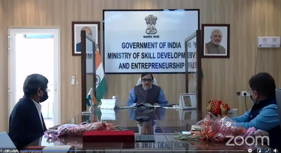 Minister Skill Development & Entrepreneurship, Govt of India Unveilsthe Stamp of The Late Shri Prabhu Dayal Agarwal – Marking His 100th Birth Anniversary