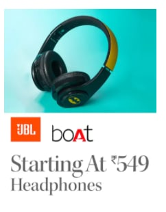 JBL BOAT Starting at ₹549 Headphones