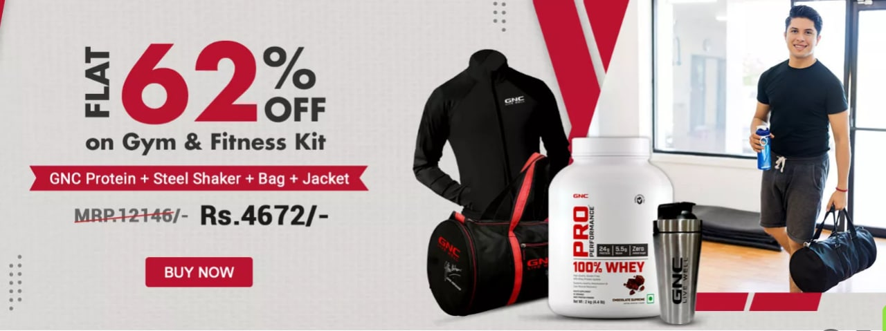 FLAT 62% OFF on GYMS AND FITNESS KIT