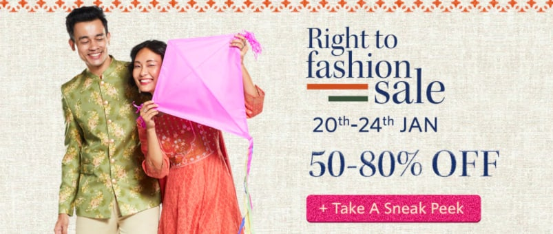 RIGHT TO FASHION SALE  20th-24th JAN  50-80% OFF