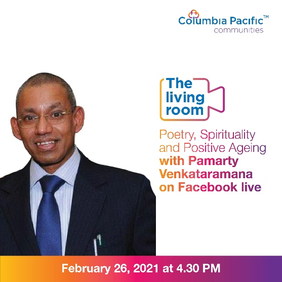 Columbia Pacific Communities hosts acclaimed poet and lawyer Pamarty Venkataramana in the 27th edition of #TheLivingRoom