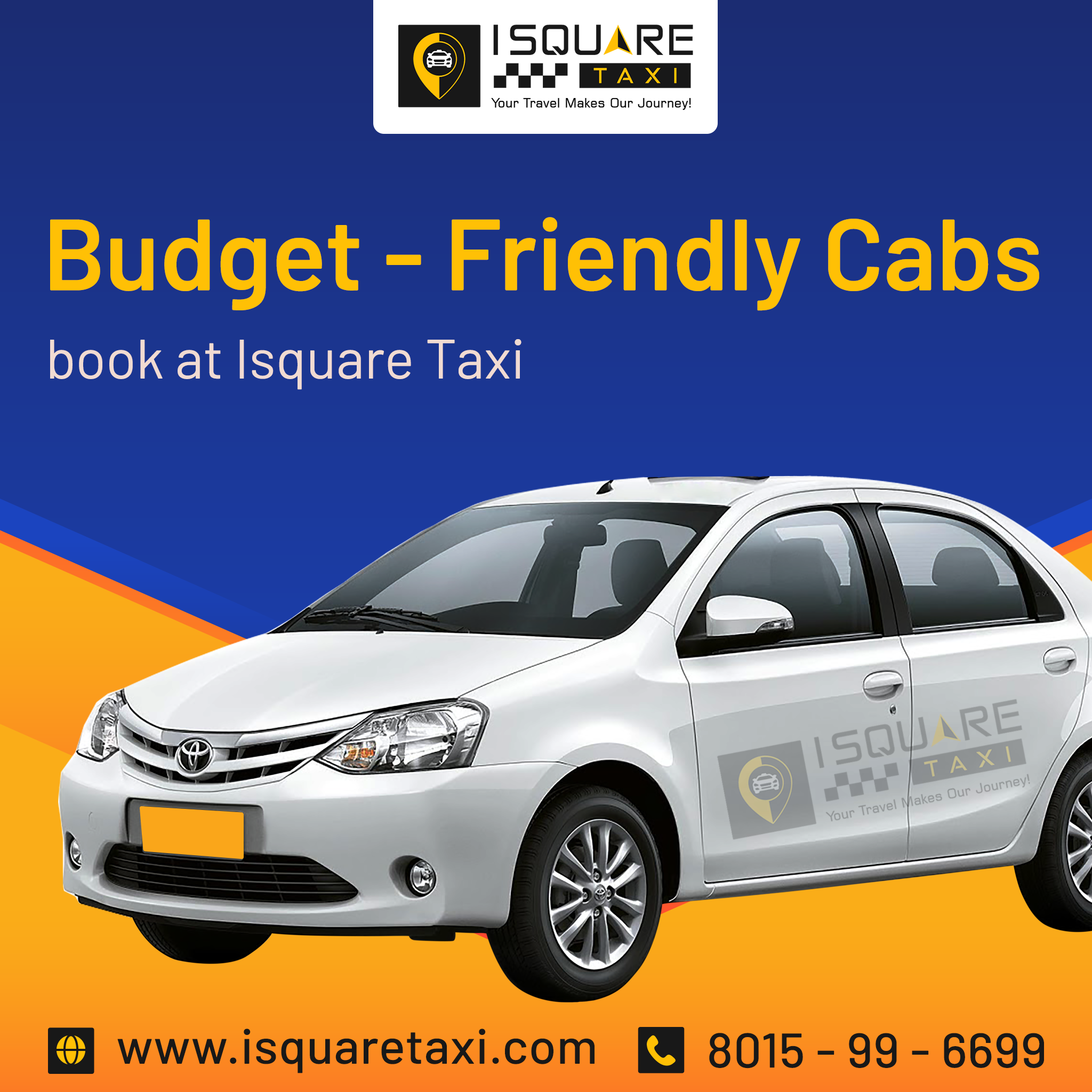 I Square Taxi, a prominent call taxi service in the city of Vellore.