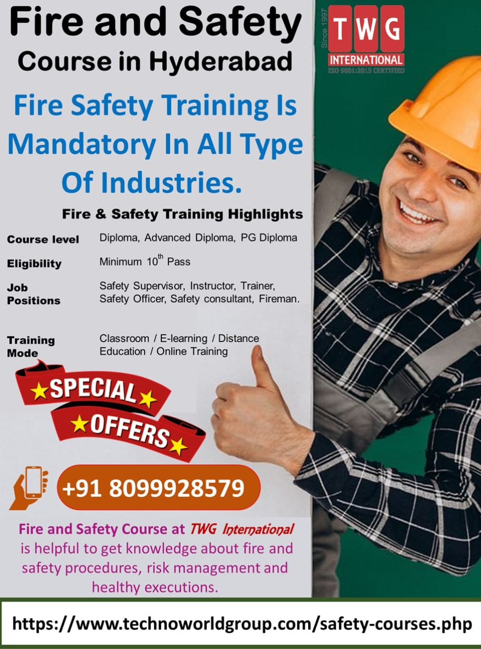 Confined Space Safety, Industrial Safety Training, Industrial Safety Management, Fire and Safety, Environmental Safety, Work at Height Safety, fire safety course
