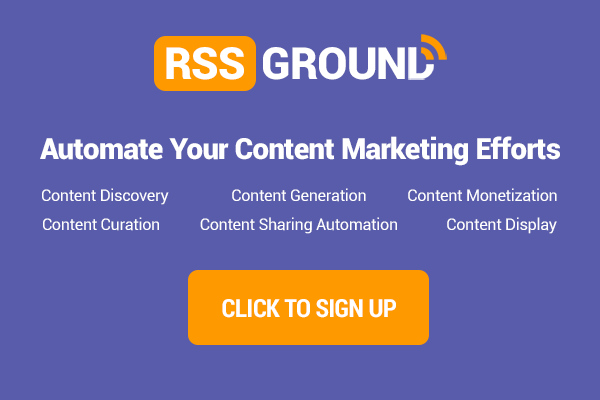 RSS Ground - Automate your content marketing efforts!