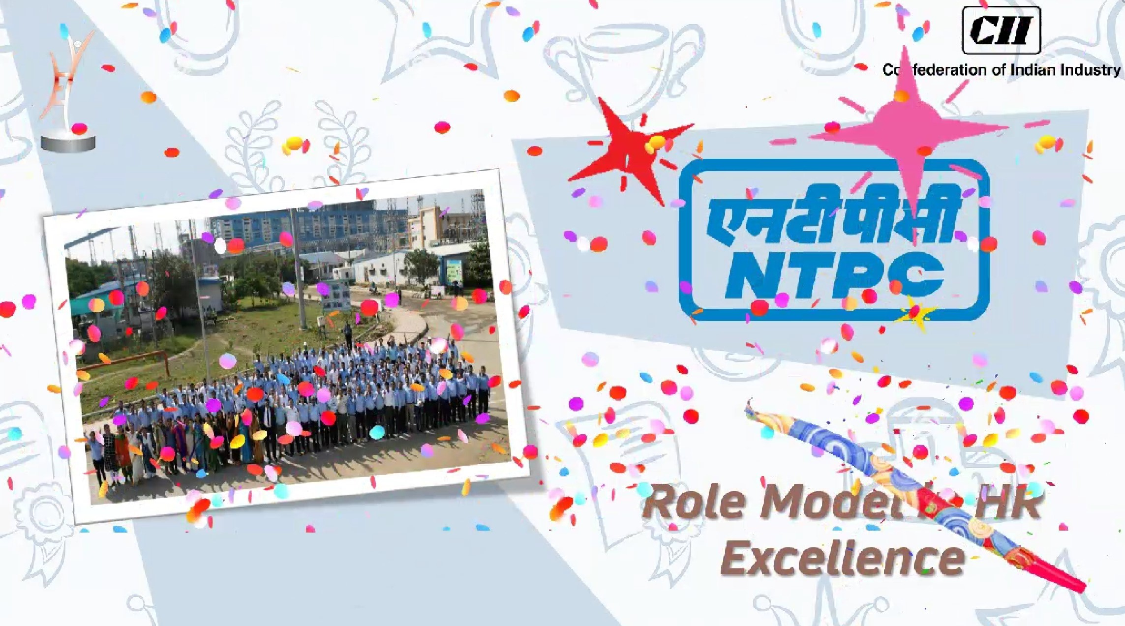 NTPC conferred 'Role Model' award at 11th CII National HR Excellence Award 2020-21