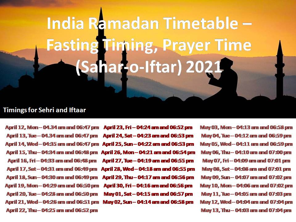 Ramadan 2021: Date, sehri and iftar timings, prayer time table, significance, and fasting rules  SHOP.MODICARE.COM | BUY MODICARE PRODUCTS ONLINE BEST DEAL INDIA: BUY BEST DEAL PRODUCTS ONLINE   #EDUCRATSWEB
