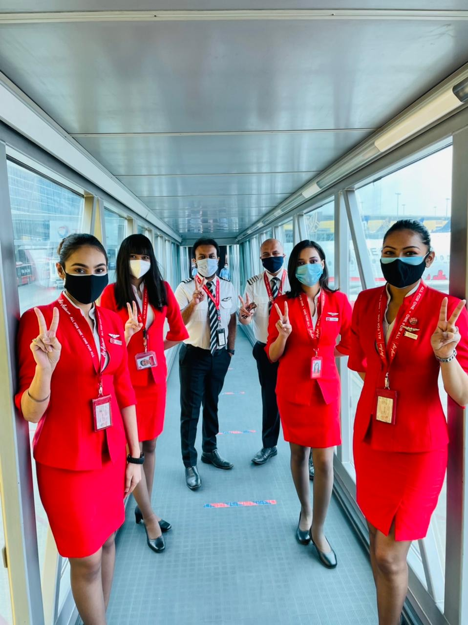 AirAsiaIndia operates with fully vaccinated crew on 9 flights across multiple metro sectors