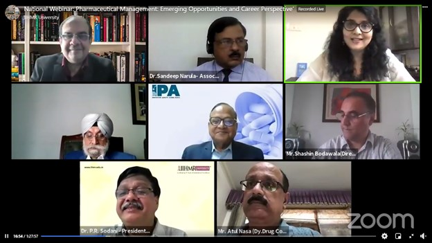 Indian Pharmaceutical Industry Shall witness 'Discover in India' after 'Make in India- by Mr. Sudarshan Jain during a webinar by IIHMR Univ.