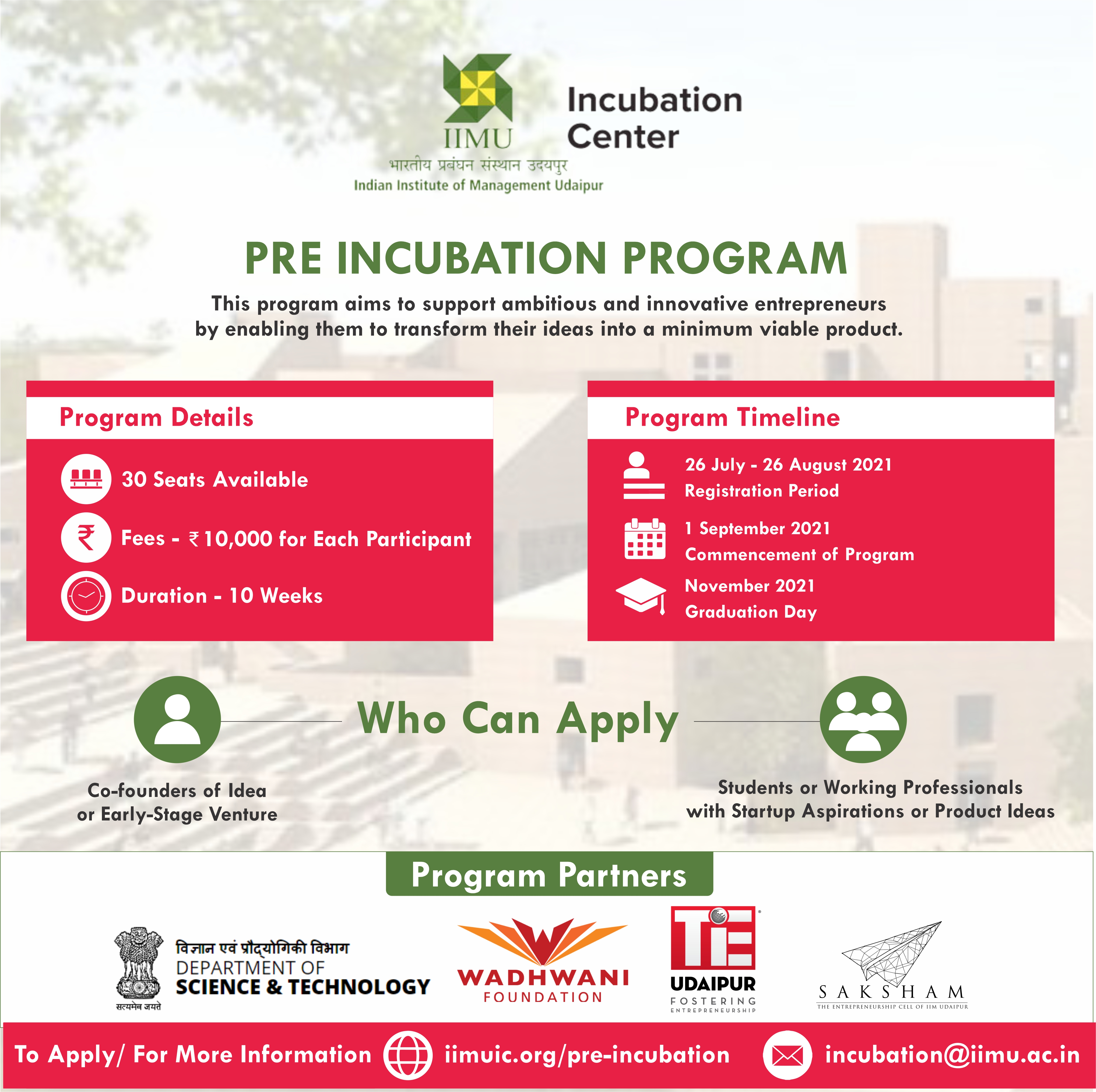 IIMU Incubation Center launches second edition of its Pre-Incubation Program