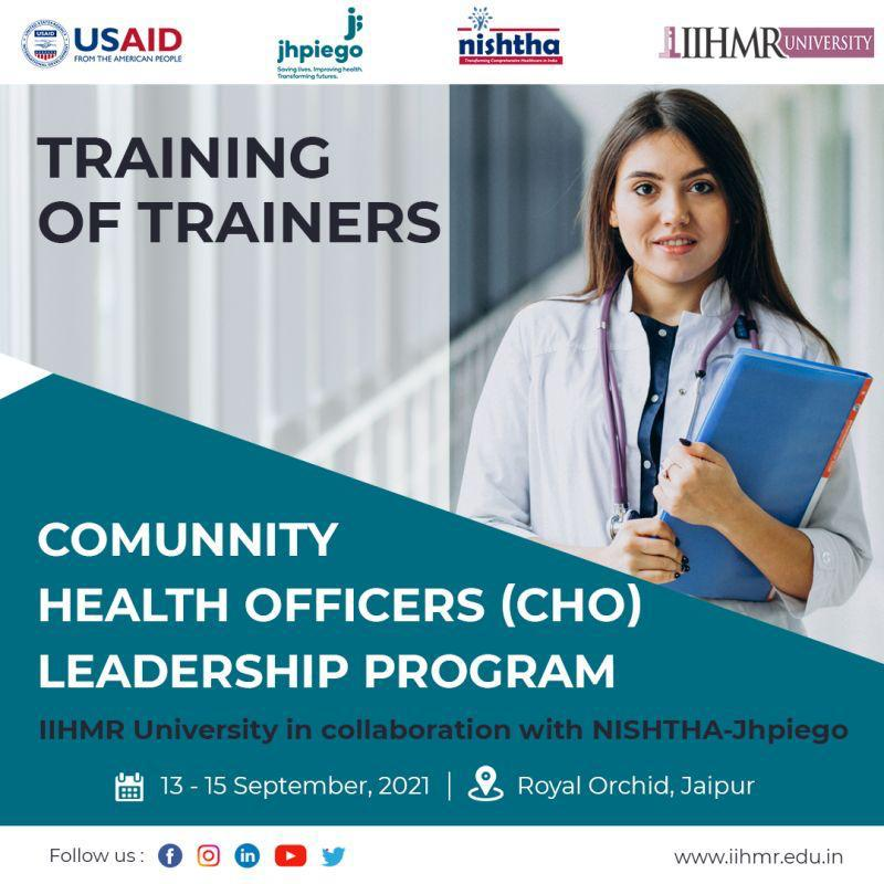 45 Trainers from 11 states were trained during first Cohort of TOT Program